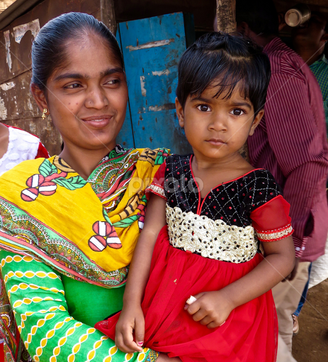 Indian Mother Child By Doug Hilson People Family Child Colorful India
