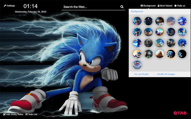 Sonic The Hedgehog New Tab Hd Theme