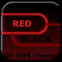 GO SMS Theme Dark Red Black icon