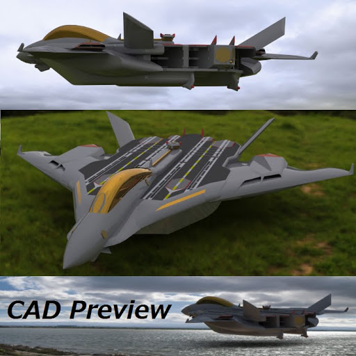 イージス飛行空母 Type L (1/3000) フルカラースケールモデル