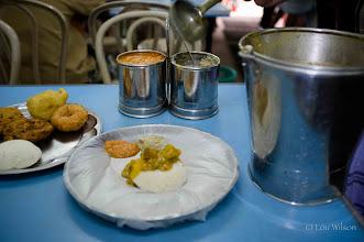 Photo: Vegetarian Breakfast at the New Sri Jayaluchmi Hotel (Pure Veg Foods) an Indian restaurant Colombo