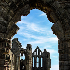 Whitby Abbey by Andrew Lancaster - Buildings & Architecture Places of Worship ( building, church, stone, landscape, abbey,  )