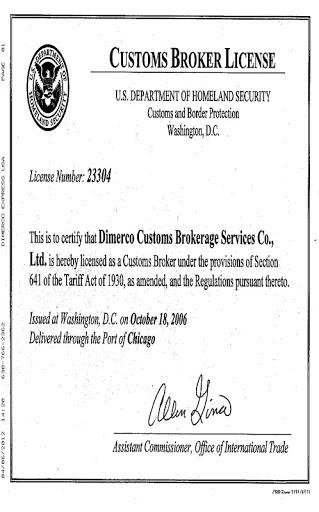 Лицензия таможенного брокера в США