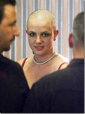 Britney Spears Bald Tattoo Head