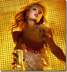 Paris Hilton is promoting her own line of champagne Rich Prosecco 2