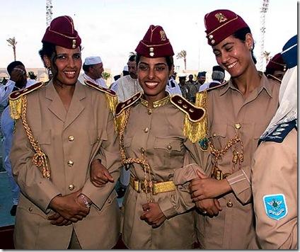 Gaddafi's virgin female bodyguards picture