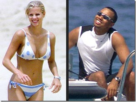 Elin Nordegren, and husband Tiger Woods picture