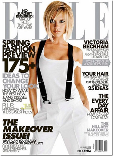 Victoria Beckham Covers Elle magazine January 2008