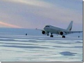airbus a319 first ice landing in antarctica picture