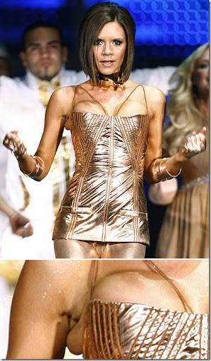 Victoria Beckham London O2 Wardrobe Malfunction picture
