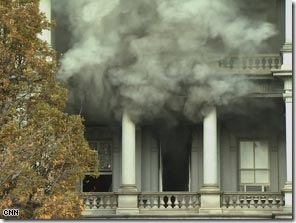 White House's Eisenhower Executive Office Fire picture
