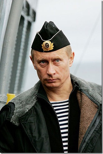 picture of Vladimir Putin who was named as time person of year 2007