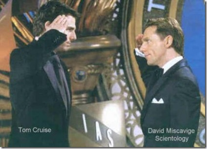 Tom Cruise and Scientology Leader David Miscavige picture