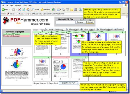 Free Online PDF Editor PDFHammercom