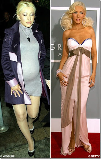 Christina Aguilera huge baby bump