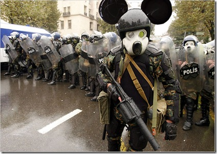 Rioting Polish Police's Mickey Mouse Uniform picture