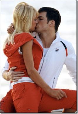 Paris Hilton Fila ads photoshoot with Ashton Kutcher