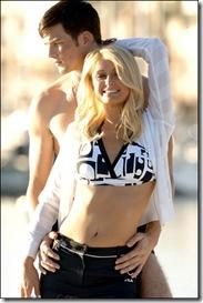 Paris Hilton with Ashton Kutcher Fila ads photoshoot 1