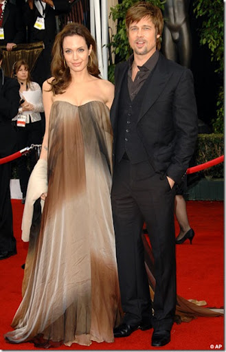 Angelina Jolie and Brad Pitt at the Screen Actors Guild Awards picture