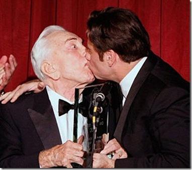 John Travolta 2008 nice pics kissed Kirk Douglas