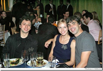 Lucy Southworth, larry page and Sergy brin picture