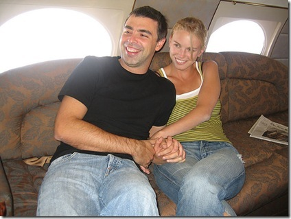 Larry Page Lucy Southworth onjet makeout session photo
