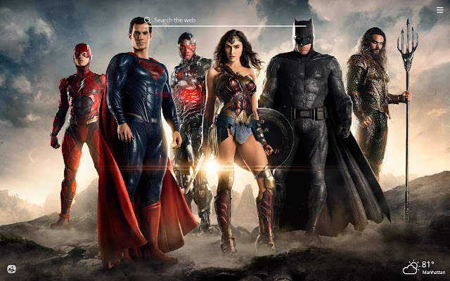 Justice League HD Wallpaper New Tab Theme