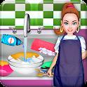 Washing dishes Mädchen Spiele icon