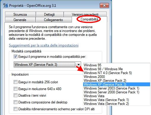 Come usare vecchi programmi con Windows 10