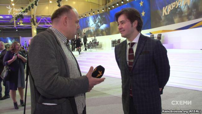 Журналіст Сергій Андрушко і міністр культури Євген Нищук