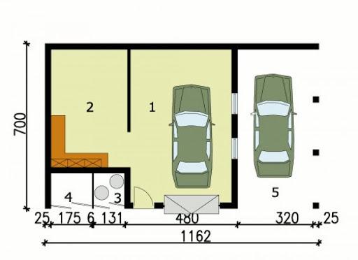 G120 - Rzut garażu
