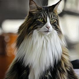 by Mark Luftig - Digital Art Animals