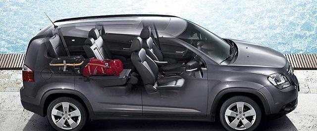 Nội thất với ghế gập gọn của Chevrolet (Nguồn: Internet)