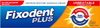 Fixodent Plus Dual Power Premium Denture Adhesive - 40g
