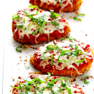 Spicy Baked Chicken Parmesan.