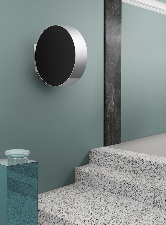 The Beosound Edge mounted on the wall.