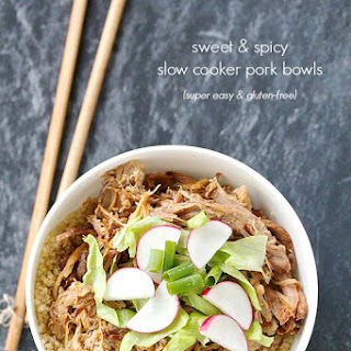 Sweet and Spicy Slow Cooker Pulled Pork Bowls Recipe