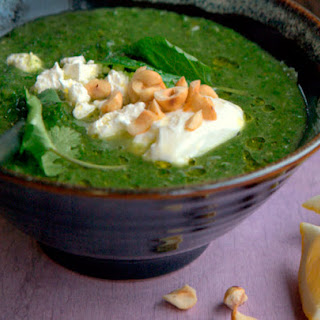 Spinach, Rainbow Chard, and Feta Soup Recipe