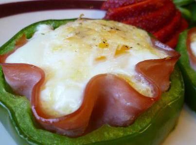 Green Pepper Nest For Breakfast Recipe