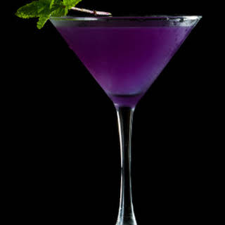 Halloween Cocktail- Purple Martini.