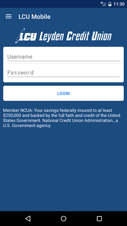Leyden Credit Union- screenshot