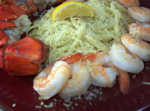Put the lobster meat back into the shells { rinse them to make sure...