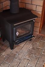 Photo: 室内の暖炉