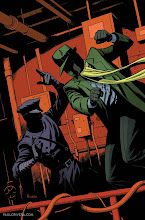 Photo: THE GREEN HORNET #7 COVER. 2013. Ink(ed by Joe Rivera) on bristol board with digital color, 11 × 17″.