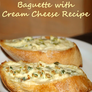 Baguette with Cream Cheese.