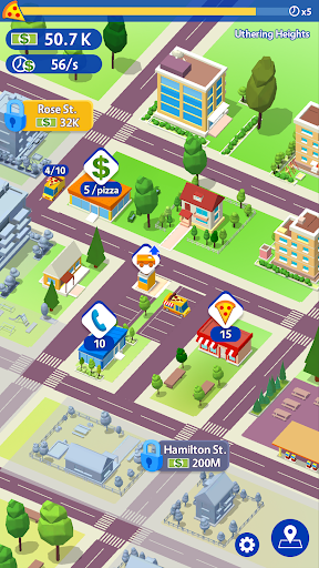 Idle Pizza Tycoon - Delivery Pizza Game  captures d'écran 1
