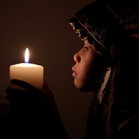 Candle light  by Anz Defensor - Babies & Children Child Portraits ( light, dusk, sunset, night, dark, dawn, evening, twilight )