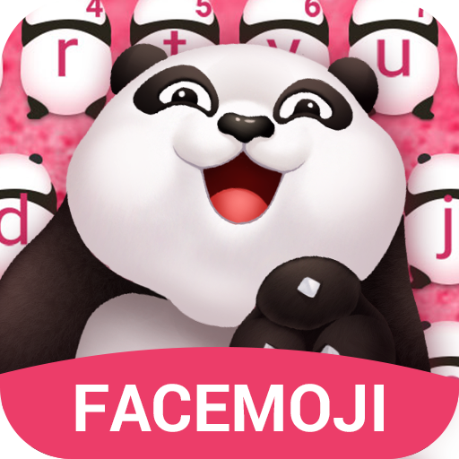 Glitter Panda Emoji Keyboard Theme for PC