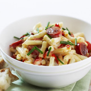 Macaroni with Kabanos Sausage and Tomato