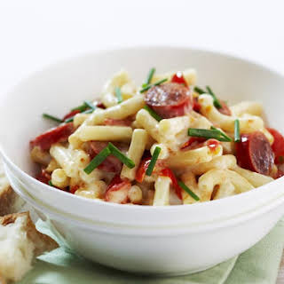 Macaroni with Kabanos Sausage and Tomato.